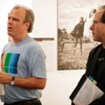 NYPH Director, Daniel Power with Curator Glenn Ruga, photo: Matthew Lomanno
