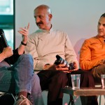 L-R: Eugene Richards, Reza, Platon at the Razor's Edge panel, photo: Matthew Lomanno